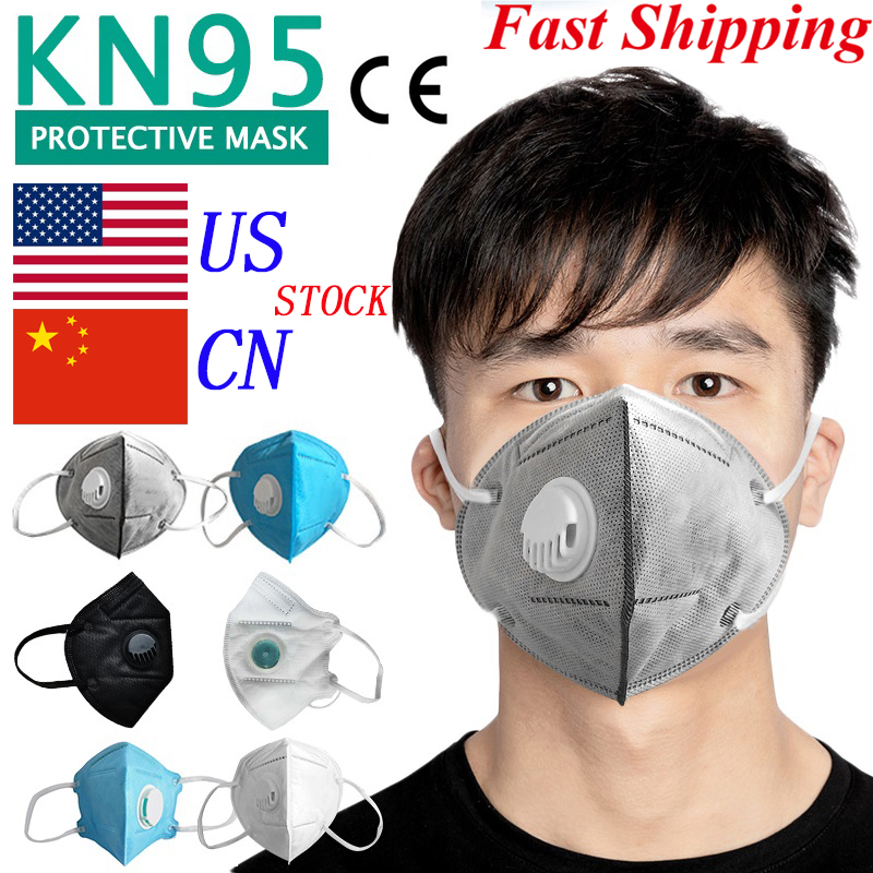 10PCs Dust Masks With Valve Masks 95% Filtration Cotton Mouth Mask Protective Mask