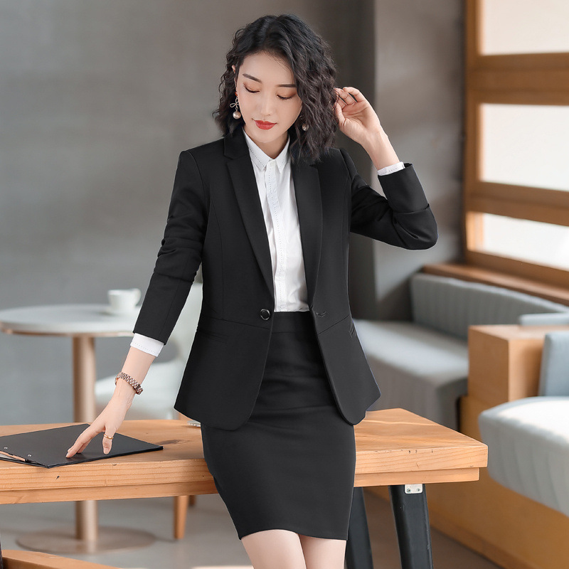 High Quality Women's Pants Suit Professional Suit Jacket Feminine 2020 Fall Casual Blazer Female Job Interview Outfit Two-piece