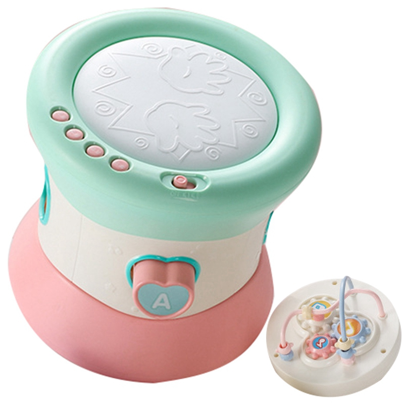 Baby Musical Hand Beat Drum Children Early Education Toy Puzzle Bell Ring Instruments