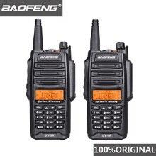 2 шт. 100% Оригинал Baofeng IP67 UV 9R Walkie Talkie Водонепроницаемый 10 км Dual Band UV9R двухстороннее радиолюбителей морской домофон  Водонепроницаемая рация