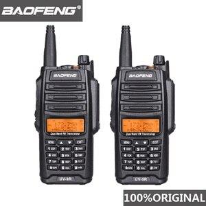 Image 1 - 2 pièces dorigine Baofeng UV 9R talkie walkie 10 km IP67 étanche double bande UV9R jambon Radio Comunicador UV 9R CB Radio émetteur récepteur
