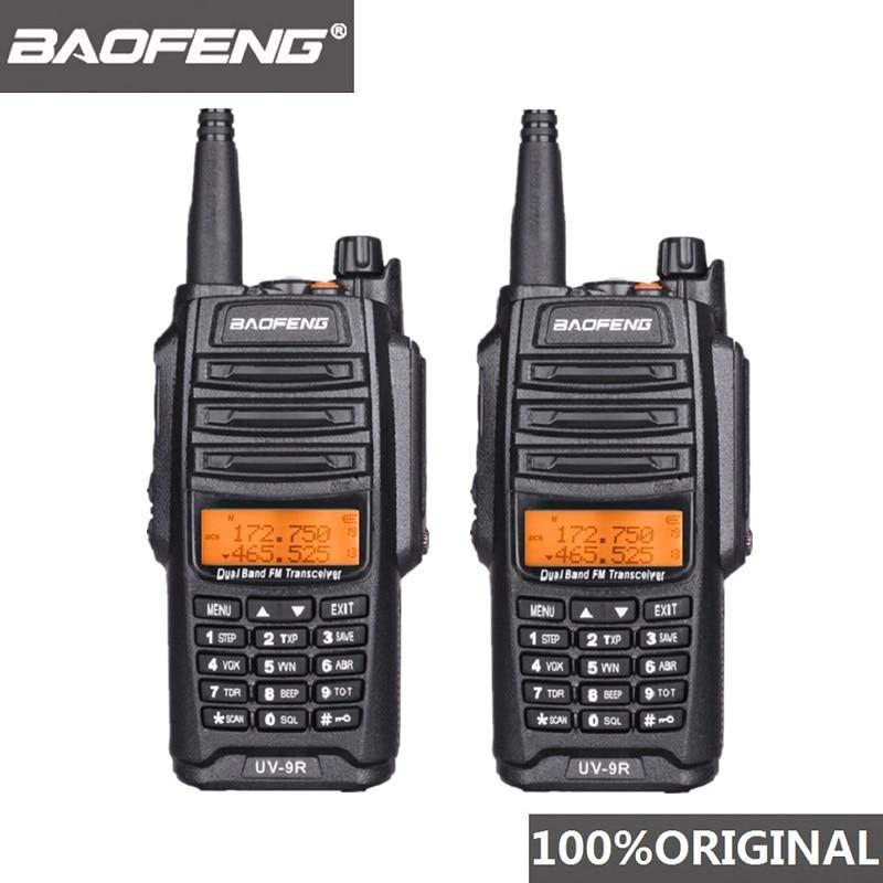 2Pcs Original Baofeng UV-9R Walkie Talkie 10 Km IP67 Waterproof Dual Band UV9R Ham Radio Comunicador UV 9R CB Radio Transceiver