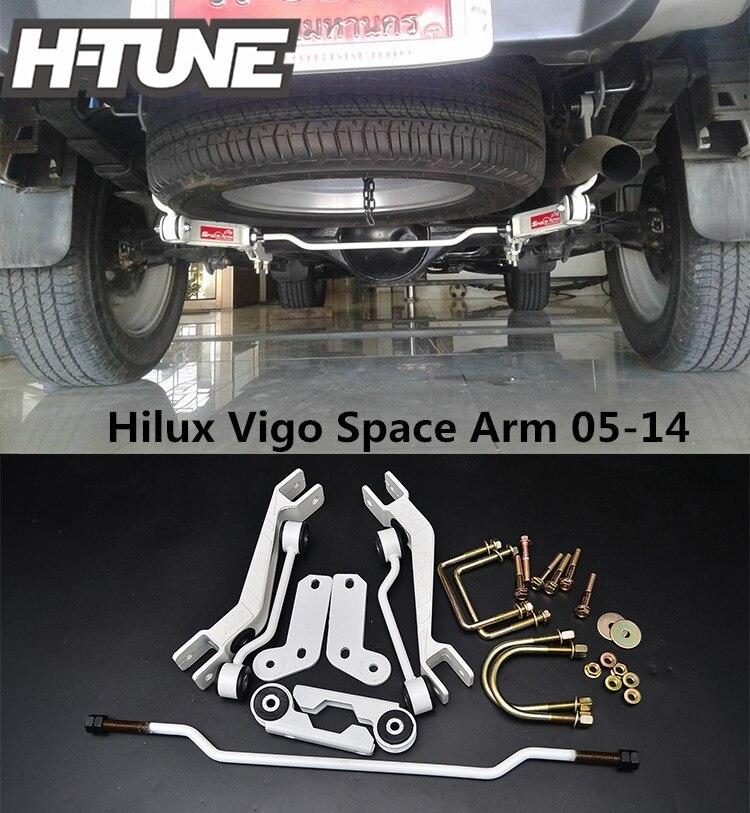 H-TUNE Aluminum Rear Stabilizer Sport Kit Space Arm For Hilux Vigo 05-14 diff drop kit for hilux