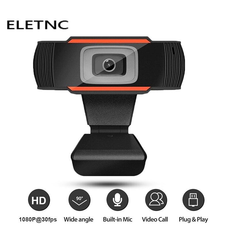 Веб-камера 1080P Full HD USB веб-Камера С микрофоном USB Plug And Play Видеозвонок веб-камера для ПК мини настольный компьютер геймер сетевого вещания