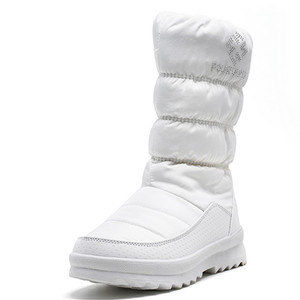 Image 4 - FEDONAS الدافئة مريحة الإناث الشقق منصة الثلوج الأحذية الشتاء جديد سستة النساء منتصف العجل الأحذية مكتب عادي الأساسية أحذية امرأة