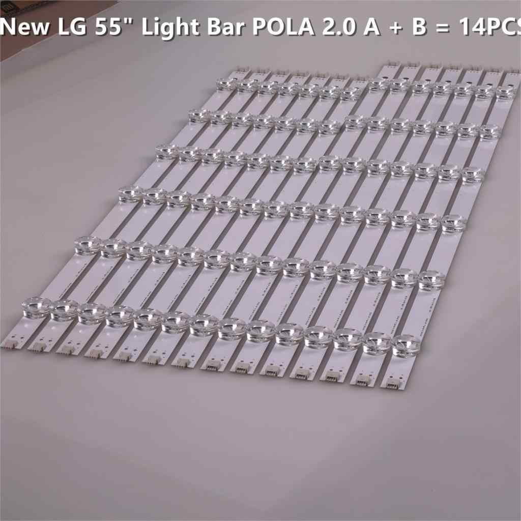 Nouveau Original 14 pièces/ensemble LED bande de rétro-éclairage pour LG 55LN5400 55LN6200 55LA6210 55LA6208 LZ5501LGEPWA DL84 R L Pola2.0 55 pouces