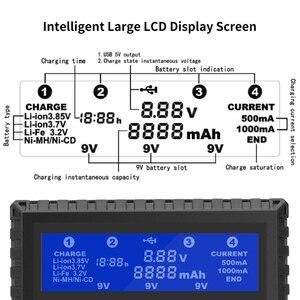 Image 5 - Bty 4 슬롯 배터리 충전기 aa/aaa/18650/18650/6f22/9 v 배터리 충전기 용 26650 다기능 리튬 이온 리튬 이온 ni mh ni cd 충전기