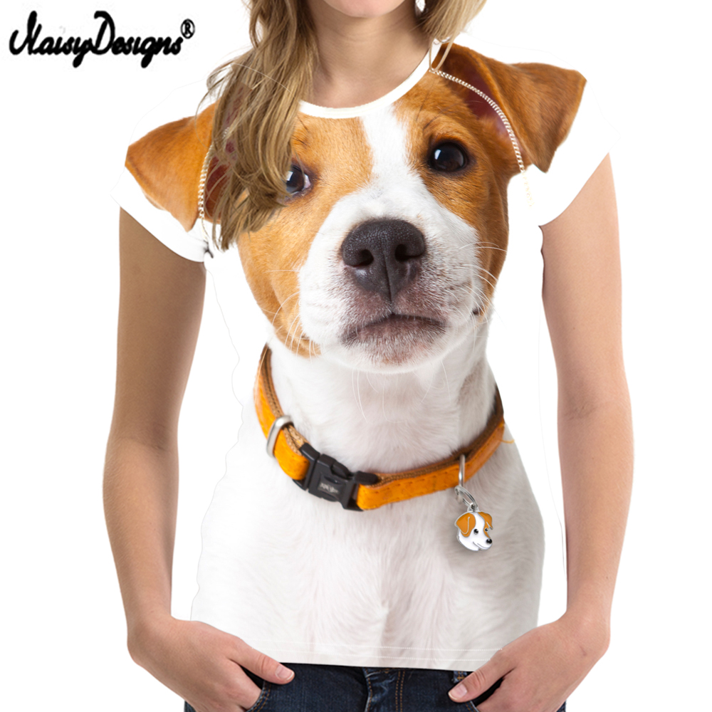 Women T-shirt Top Jack Russell Ladies O-neck Tops Tee Summer Breathable Clothing Drop Shipping 2019 Free Shipping Col Roul Femme