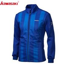 Kawasaki Мужская куртка для бега, рубашка для фитнеса с длинным рукавом, тренировочная Джерси, спортивная куртка с воротником-стойкой, куртки для бега на молнии, JK-R1810