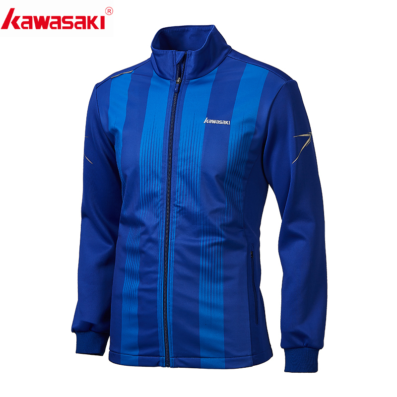 Kawasaki Men's Running Jacket Shirt Fitness Long Sleeve Training Jersey  Sports Mandarin Collar Jogging Jackets  Zipper JK-R1810