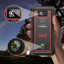YABER 10W ładowanie wireless urządzenie do uruchamiania awaryjnego samochodu 2500A 23800mAh akumulator samochodowy skok startowy z ekranem LCD latarka LED młotek bezpieczeństwa tanie tanio 20000-30000 1200 A 80 ~ 85 Msds Rohs 12 v 863g Oświetlenie Zapalniczki Rozrusznika SOS Oświetlenie Jednym ze Sposobów Szybkie Ładowanie