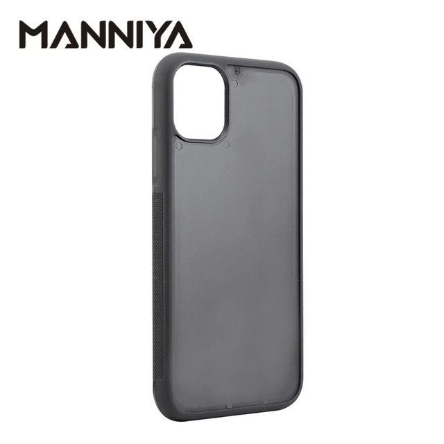 MANNIYA için iphone 11/11 pro/11 pro max boş oluk kauçuk TPU + pc telefon kılıfı Ücretsiz Kargo! 100 adet/grup