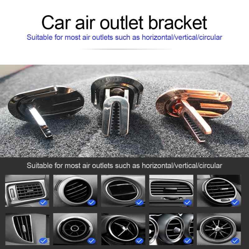 2 ב 1 מתכת טבעת רכב טלפון המכונית לשקע אוויר נייד טלפון הר Stand תכליתי 360 מסתובב טלפון נייד שולחן עבודה stand סוגר
