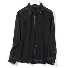 100 naturalny jedwab bluzki kropki z długim rękawem prawdziwy jedwabny szyfon bluzka bluzki dla kobiet koszule na co dzień nadruk w kropki bluzki tanie tanio Jedwabiu REGULAR Polka dot Kobiety Pełna casual natural silk blouses Skręcić w dół kołnierz Przycisk Suknem 100 natural silk blouse