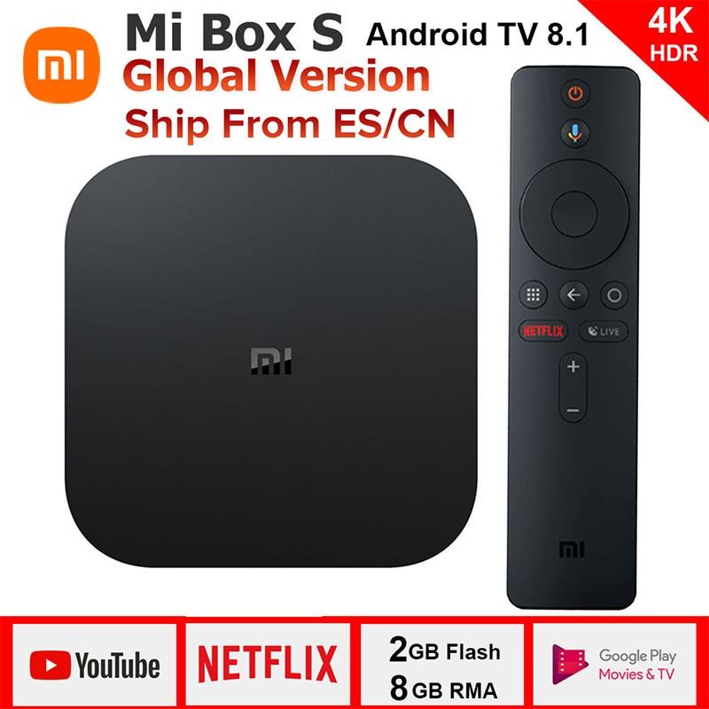 Original Xiaomi MI BOX S 4K Quad Core 3 Android 6.0 2G/8G Smart HDR Movie Set-top Box Multi-language Netflix YouTube Google
