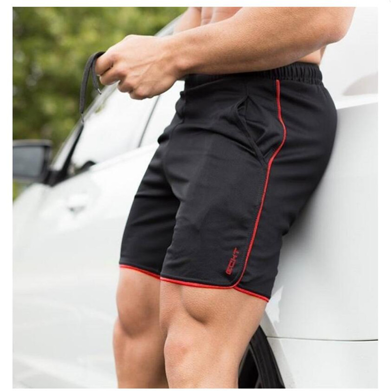 New Fitness Man Bodybuilding Shorts Man Summer Gyms Training Male Breathable Mesh Quick Dry Sportswear Jogger Beach Short Pants