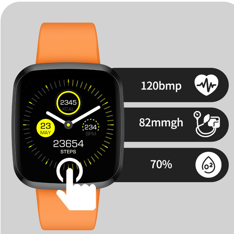 CHKEPZ <font><b>P3</b></font> <font><b>Smart</b></font> <font><b>watch</b></font> IP68 waterproof Heart Rate Monitor Bluetooth Sport fitness tracker Men Smartwatch For iOS Android phone image