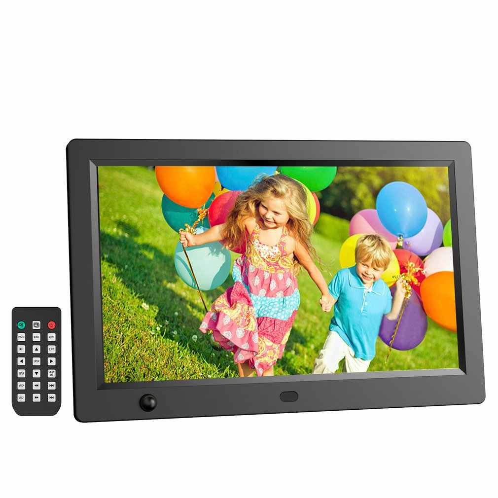 10.1 12 inch HD LCD Digital Photo Frame & Commercial Advertising Machine Human Sensor Video Player with Remote Control