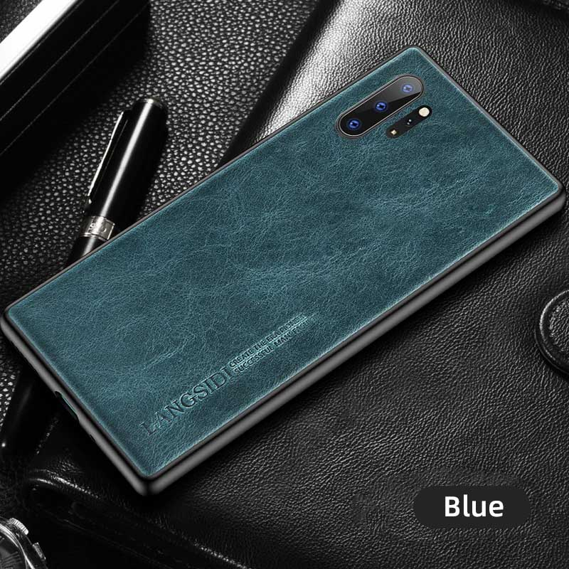 Genuine Oil Wax Leather Phone Case For Samsung Galaxy Note 10 8 9 Note 10 Plus A50 A51 A71 A70 S10 S7 S8 S9 S20 Plus S20 Ultra