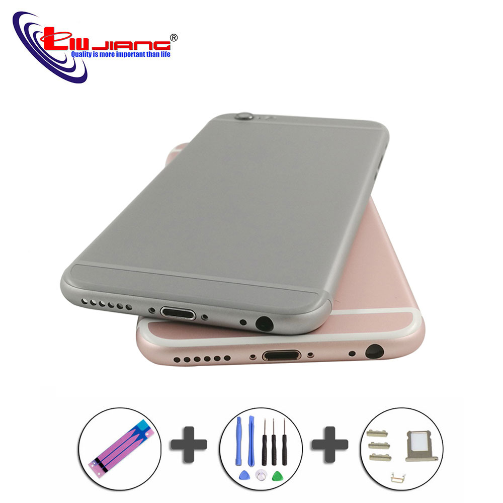 Battery Cover Back For IPhone 6 6s Plus Back Battery Rear Case Middle Frame Replacement Housing For Iphone 6 Customize IMEI