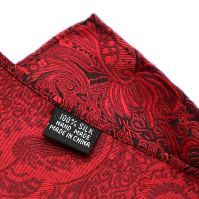 F174 Klassische herren Silk Taschentuch Vintage Hanky Woven Rot Floral Tasche Platz 25*25cm Hochzeit Party Brust handtuch Zubehör