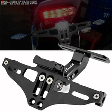 For SUZUKI GSF 250 600 600S 650 650S 650N 1200 1250 Bandit 650S Motorcycle License Number Plate Frame Holder Bracket With LED
