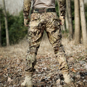 Image 5 - Desert Python Combat Broek Mannen Militaire Kleding Broek Kniebeschermers Tactische Camouflage Jacht Kleding Airsoft Multicam Broek