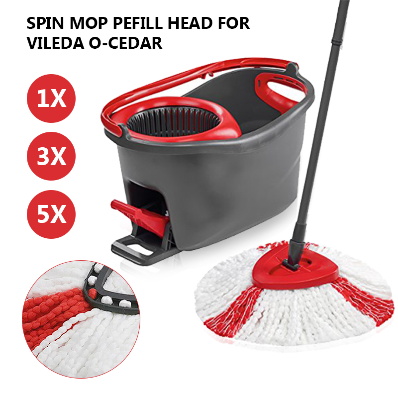 1/3/5PCs Microfiber Mop Clean Refill Replacement Head For Vileda Easy Mop Home Cleaning Tools Mop Accessories(China)