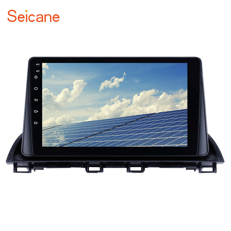 Seicane 9inch Android 8.1 <font><b>2Din</b></font> Car radio Multimedia Video Player GPS For <font><b>Mazda</b></font> <font><b>3</b></font> Axela 2013-2018 support SWC DVR OBD Mirror Link image
