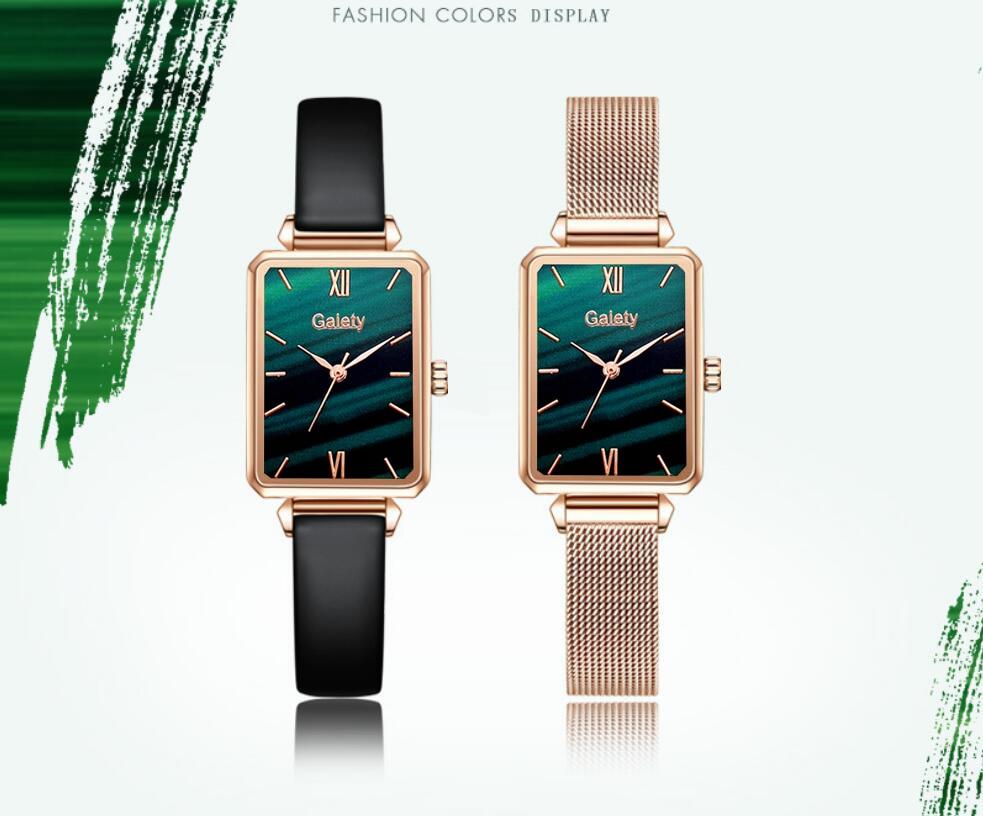Luxury Women Watch Quartz Bracelet Set Green - women-watches
