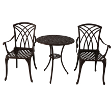 Алюминиевый материал патио Grden мебель черного цвета