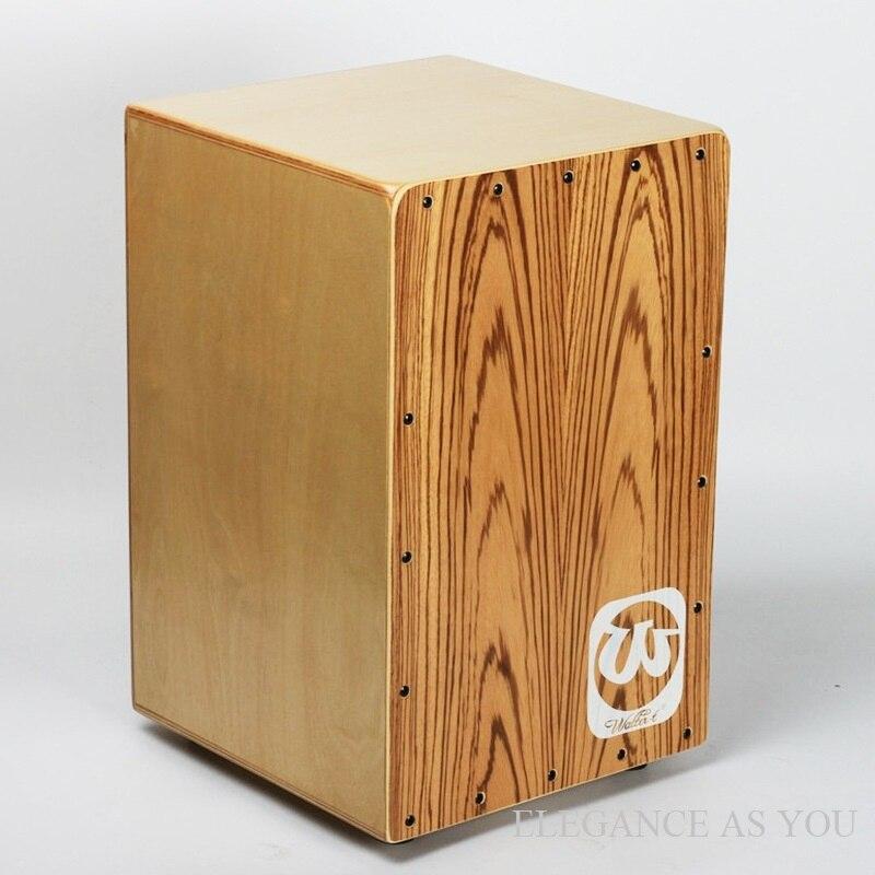 Adulte saule zèbre haut cajon bouleau bois boîte tambour percussions main tambour bois naturel CAJON tambour adulte enfants instruments de musique - 3