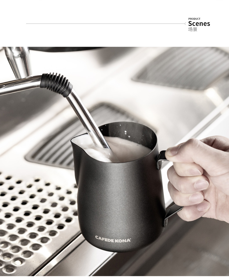 Barista Pitcher Latte Art Cappuccino Milk Jugs Stainless Steel Teflon Coating Milk Frothing Pitcher Espresso Craft Cup Frothing