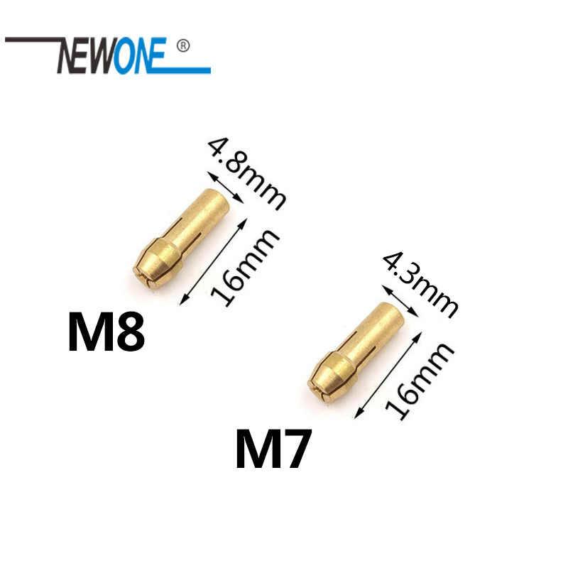 10 pièces outil électrique Mini perceuse laiton pince mandrin pour Dremel outil rotatif Dremel accessoires Machine polissage graveur électrique
