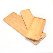 1pc Wooden Bamboo Tray Plant Flower Pot Saucer Rectangle Shape Succulent Cactus Holder