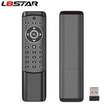L8star Voice telecomando retroilluminato Wireless Fly Air mouse Google microfono IR apprendimento giroscopio a 6 assi per Android TV BOX