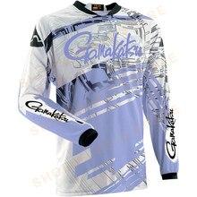 2021 verão nova gamakatsu camisa de pesca de manga longa secagem rápida roupas de pesca anti-uv protetor solar roupas de pesca