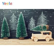 Yeele Christmas Photocall Snow Wood Car Pines Decor Photography Backdrops Personalized Photographic Backgrounds For Photo Studio