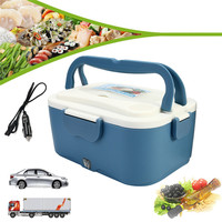 1.5L 12V/24V Car Electric Lunch Boxes Outdoor Traveling Meal Heater Truck Lunchbox Food Storage Container Box Dinnerware Gift|Lunch Boxes| |  -
