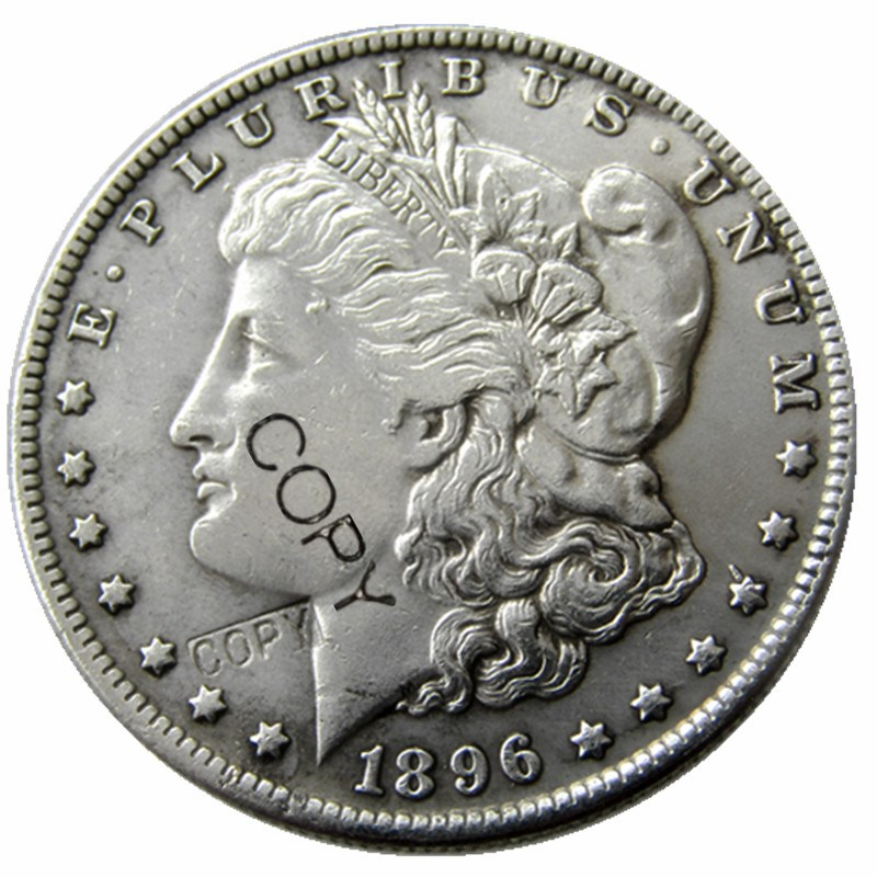 US Coins 1896  Morgan Dollar Copy Coins Silver Plated
