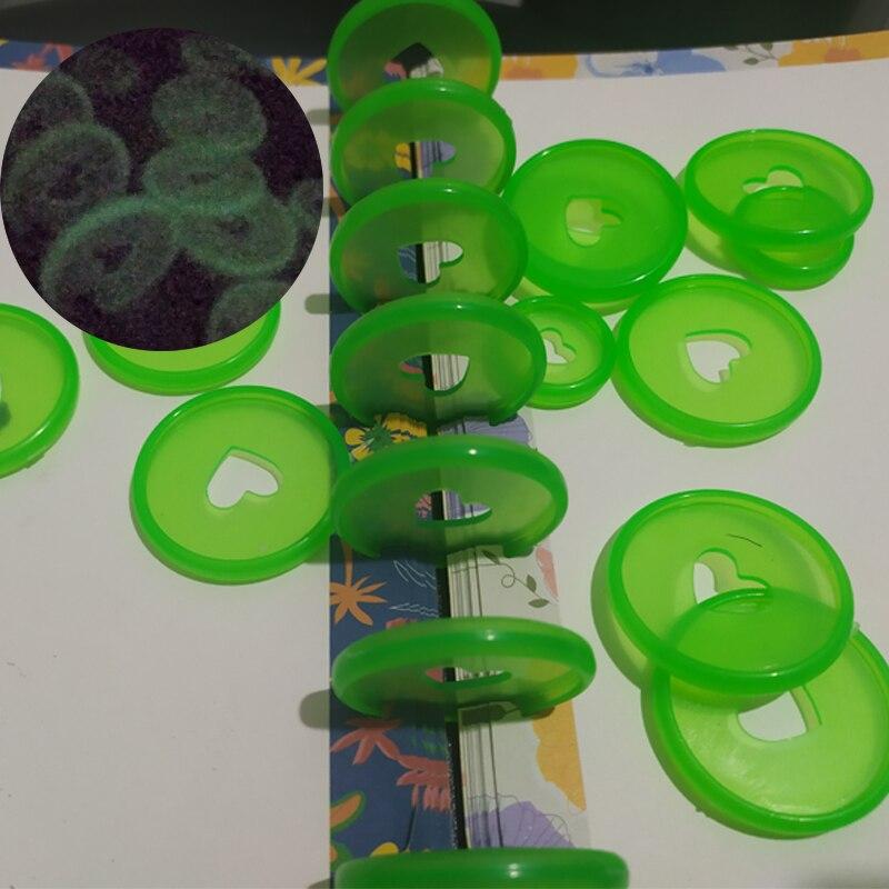 12PCS Creative New Luminous Binding Planner Discs DIY Binding Notebook Discs Notebooks Binding Rings Fluorescent Rings Buckle