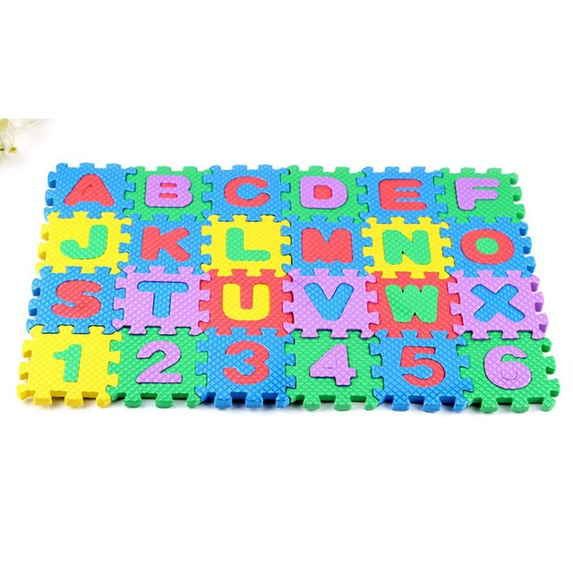36 sztuk rosyjski alfabet zabawka dla dziecka pianka podkładka do puzzli EVA gra edukacyjna mata maty do raczkowania dla dzieci dywan wczesne nauczanie podłoga Mats3