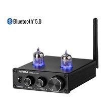 AIYIMA-tubo de vacío con Bluetooth 5,0, HIFI 6J1, preamplificador de amplificador de preamplificador con ajuste de graves agudos para cine en casa