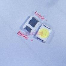 500 шт./лот Jufei 1 Вт 2835 3 в SMD LED 3528 88LM холодный белый для телевизора/ЖК подсветки