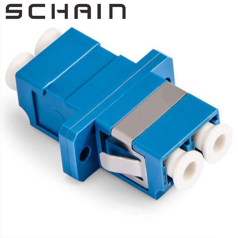 LC UPC Adapter Duplex Fiber Optic Adapter Ftth LC Optical Fiber Coupler LC UPC Fiber Flange LC Connector Fibra Optica