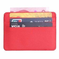 Нейтральный маленький кошелек, дамская сумка для карт, мужской тонкий кошелек для карт, Бизнес ID держатель для карт, с рисунком личи, сумка д...