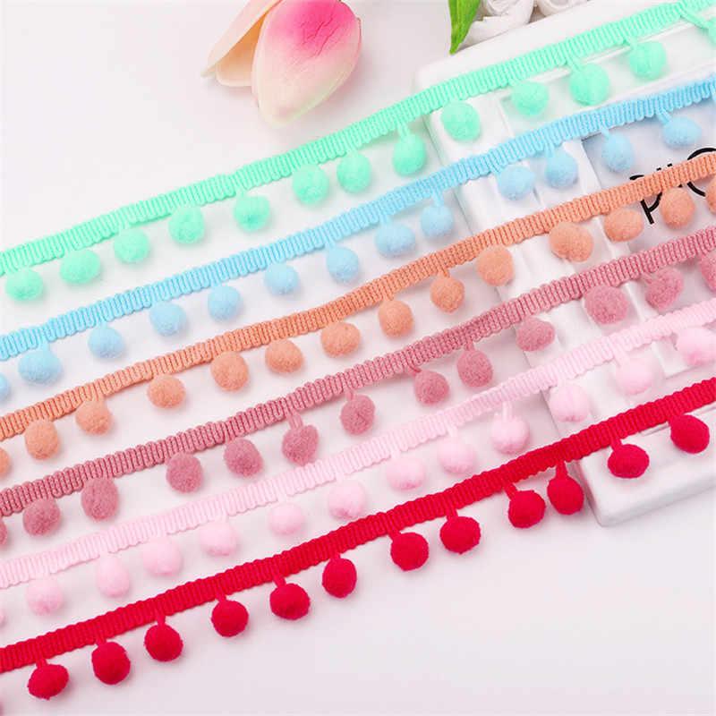 5 Yards Pom Pom Trim Ball 10 mm Mini Pearl Pompom Fringe Ribbon Sewing Lace DIY
