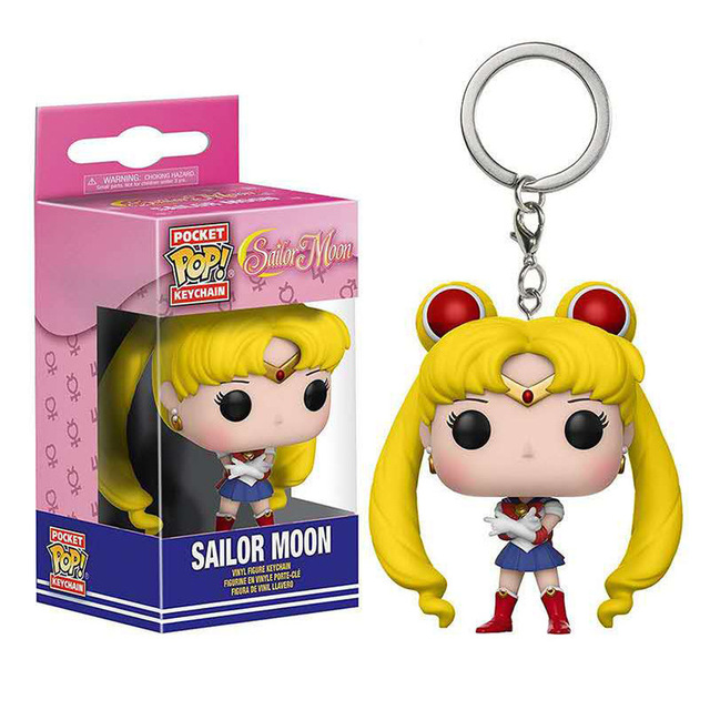 FUNKO POP Keychain Sonic Venom Sailor Moon Uzumaki Naruto Action Figure Toys Decoration Model for Kids Gifts 6