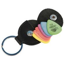 Case-Bag Guitar-Accessories Keychain-Shape Plectrum Pick Top-Quality Genuine-Leather