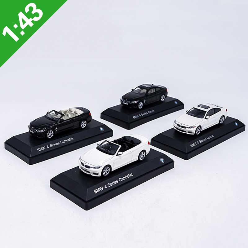 1: 43 scale Coupe 4 Series black Hardtop Convertible Static high simulation classic Alloy Car <font><b>Model</b></font> toy with Base collection image